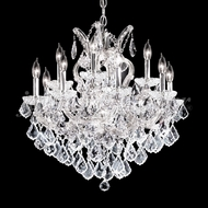 James Moder 91812S22 Maria Theresa Grand Crystal Silver Chandelier Light