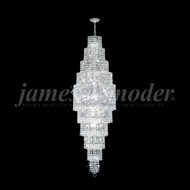 James Moder 92168S22 Prestige Crystal Silver Foyer Lighting Fixture
