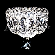 James Moder 92308S22 Prestige Crystal Silver Flush Mount Lighting