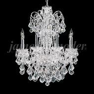 James Moder 93908S22 Maria Elena Crystal Silver Ceiling Chandelier