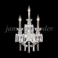 James Moder 93943S22 Buckingham Crystal Silver Wall Sconce Light