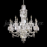 James Moder 93954S22 Buckingham Crystal Silver Ceiling Chandelier