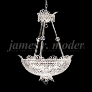 James Moder 94105S22 Princess Crystal Silver Ceiling Light Pendant