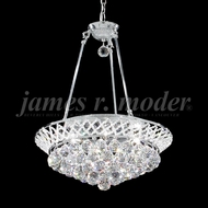 James Moder 94137S22 Jacqueline Crystal Silver 15  Ceiling Pendant Light