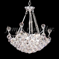 James Moder 94144S22 Jacqueline Crystal Silver Pendant Lighting