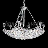 James Moder 94146S22 Jacqueline Crystal Silver Pendant Light