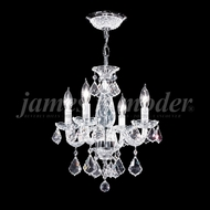 James Moder 94204S22 Vienna Crystal Silver Mini Hanging Chandelier