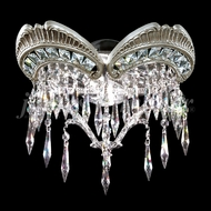James Moder 94341PW22 Dynasty Cast Brass Crystal Pewter Lamp Sconce