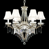 James Moder 94346PW22-55 Dynasty Cast Brass Crystal Pewter Chandelier Lighting