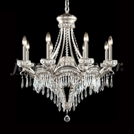 James Moder 94348PW22 Dynasty Cast Brass Crystal Pewter Lighting Chandelier