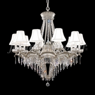 James Moder 94350PW22-55 Dynasty Cast Brass Crystal Pewter Chandelier Light