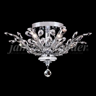 James Moder 94454S22 Florale Crystal Silver Ceiling Light Fixture