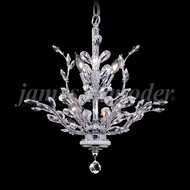 James Moder 94456S22 Florale Crystal Silver Mini Ceiling Chandelier
