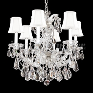 James Moder 94716S22-97 Maria Theresa Royal Crystal Silver Mini Hanging Chandelier