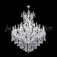 James Moder 94754S22 Maria Theresa Royal Crystal Silver Ceiling Chandelier