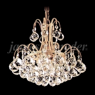 James Moder 94803G22 Jacqueline Crystal Gold Mini Hanging Chandelier