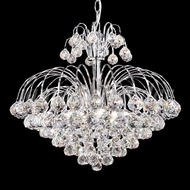 James Moder 94804S22 Jacqueline Crystal Silver Mini Chandelier Light