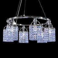 James Moder 95310S0V Tekno Mini Silver Mini Hanging Chandelier