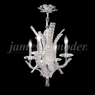 James Moder 95634S22 Eclipse Fashion Crystal Silver Mini Chandelier Light