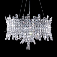 James Moder 95639S22 Eclipse Fashion Crystal Silver Drop Ceiling Light Fixture
