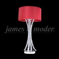 James Moder 95641S22-72 Eclipse Fashion Crystal Silver Table Top Lamp