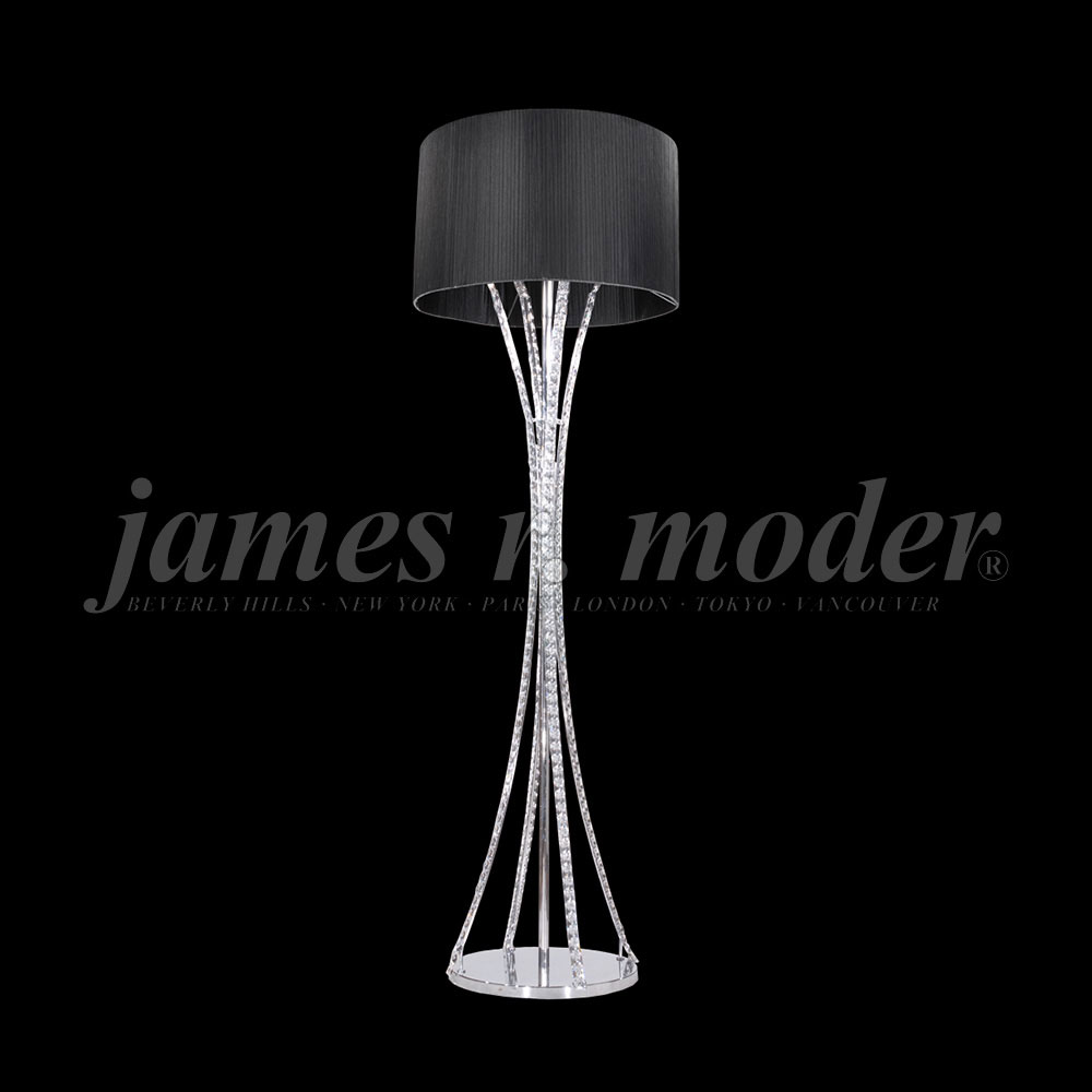 James Moder 95642S22 71 Eclipse Fashion Crystal Silver Floor Lamp. Loading  Zoom