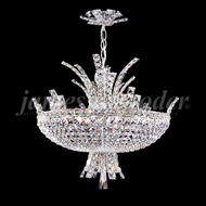 James Moder 95657S22 Eclipse Fashion Crystal Silver Mini Chandelier Lamp