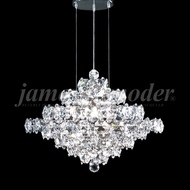James Moder 95889S22 Continental Fashion Crystal Silver Hanging Chandelier