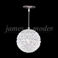 James Moder 95930S22 Sun Sphere Crystal Silver 5  Pendant Lighting