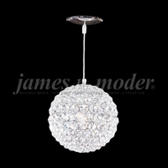 James Moder 95931S22 Sun Sphere Crystal Silver 8  Pendant Light