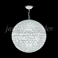 James Moder 95938S22LED Sun Sphere Crystal Silver 32  Pendant Lighting Fixture