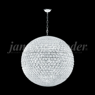 James Moder 95940S22LED Sun Sphere Crystal Silver 40  Hanging Pendant Light