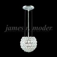 James Moder 95950S22 Sun Sphere Crystal Silver Pendant Hanging Light