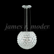 James Moder 95951S22 Sun Sphere Crystal Silver Hanging Light Fixture