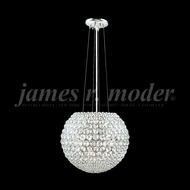 James Moder 95954S22 Sun Sphere Crystal Silver Drop Lighting