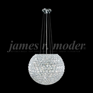 James Moder 95956S22 Sun Sphere Crystal Silver Drop Ceiling Lighting