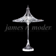 James Moder 95965S22 Silver Side Table Lamp