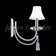James Moder 96011S2P-95 Pearl Crystal Silver Wall Sconce Light