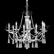 James Moder 96018S2P Pearl Crystal Silver Chandelier Lighting