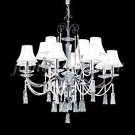 James Moder 96019S2P-95 Pearl Crystal Silver Lighting Chandelier