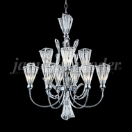 James Moder 96048S22 Jewelry Crystal Silver Halogen Hanging Chandelier