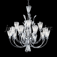 James Moder 96050S22 Jewelry Crystal Silver Halogen Chandelier Light