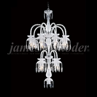 James Moder 96119S22 Le Chateau Crystal Silver Chandelier Lamp