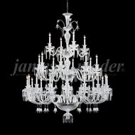 James Moder 96126S22 Le Chateau Crystal Silver Ceiling Chandelier