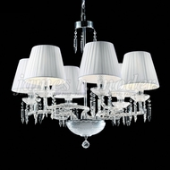 James Moder 96128S22-74 Le Chateau Crystal Silver Chandelier Light
