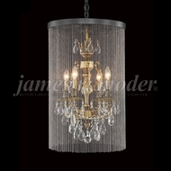 James Moder 96294HB22-45 Nova Paris Honey Bronze Mini Chandelier Lamp