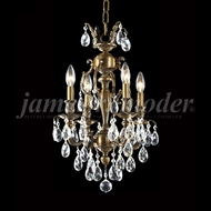 James Moder 96294HB22 Nova Paris Honey Bronze Mini Chandelier Lighting