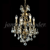 James Moder 96294HB2GT Nova Paris Honey Bronze Mini Lighting Chandelier