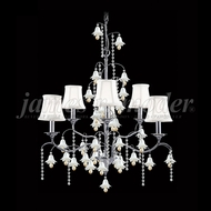 James Moder 96326S22W-97 Murano Crystal Silver Hanging Chandelier