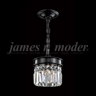 James Moder 96331SB22 Europa Crystal Satin Black Pendant Light